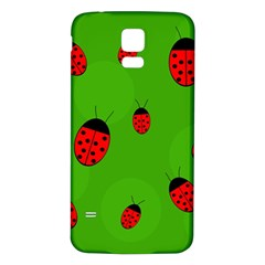 Ladybugs Samsung Galaxy S5 Back Case (white) by Valentinaart
