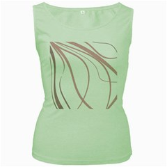 Pink Elegant Lines Women s Green Tank Top by Valentinaart