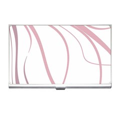 Pink Elegant Lines Business Card Holders by Valentinaart