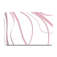 Pink Elegant Lines Plate Mats by Valentinaart