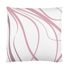 Pink Elegant Lines Standard Cushion Case (one Side) by Valentinaart