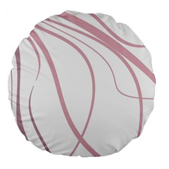 Pink Elegant Lines Large 18  Premium Flano Round Cushions by Valentinaart