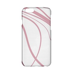 Pink Elegant Lines Apple Iphone 6/6s Hardshell Case by Valentinaart