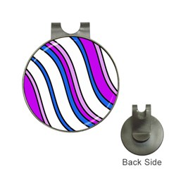 Purple Lines Hat Clips With Golf Markers by Valentinaart