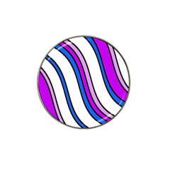 Purple Lines Hat Clip Ball Marker (4 Pack) by Valentinaart