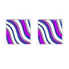 Purple Lines Cufflinks (square) by Valentinaart