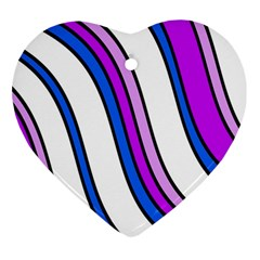 Purple Lines Heart Ornament (2 Sides) by Valentinaart