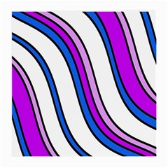 Purple Lines Medium Glasses Cloth (2 Side) by Valentinaart