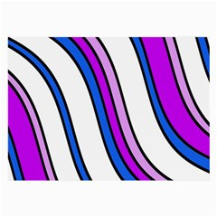Purple Lines Large Glasses Cloth (2 Side) by Valentinaart