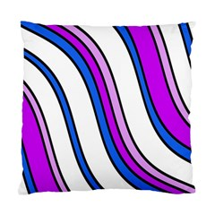 Purple Lines Standard Cushion Case (one Side) by Valentinaart