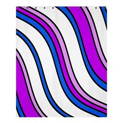Purple Lines Shower Curtain 60  X 72  (medium)  by Valentinaart