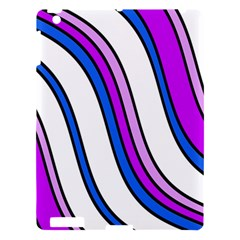 Purple Lines Apple Ipad 3/4 Hardshell Case by Valentinaart