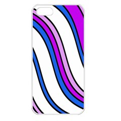 Purple Lines Apple Iphone 5 Seamless Case (white) by Valentinaart