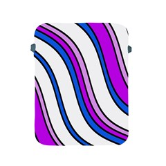 Purple Lines Apple Ipad 2/3/4 Protective Soft Cases by Valentinaart