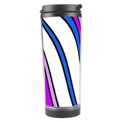 Purple Lines Travel Tumbler by Valentinaart