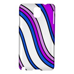 Purple Lines Samsung Galaxy Note 3 N9005 Hardshell Case by Valentinaart