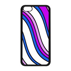 Purple Lines Apple Iphone 5c Seamless Case (black) by Valentinaart