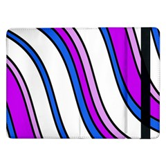 Purple Lines Samsung Galaxy Tab Pro 12 2  Flip Case by Valentinaart