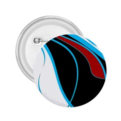 Blue, Red, Black And White Design 2 25  Buttons by Valentinaart