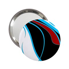Blue, Red, Black And White Design 2 25  Handbag Mirrors by Valentinaart