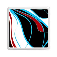 Blue, Red, Black And White Design Memory Card Reader (square)  by Valentinaart