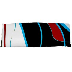 Blue, Red, Black And White Design Body Pillow Case (dakimakura) by Valentinaart