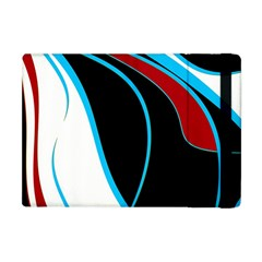 Blue, Red, Black And White Design Apple Ipad Mini Flip Case by Valentinaart