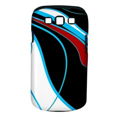 Blue, Red, Black And White Design Samsung Galaxy S Iii Classic Hardshell Case (pc+silicone) by Valentinaart