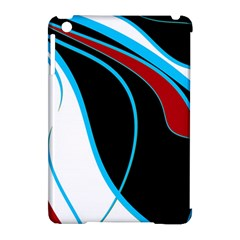 Blue, Red, Black And White Design Apple Ipad Mini Hardshell Case (compatible With Smart Cover) by Valentinaart