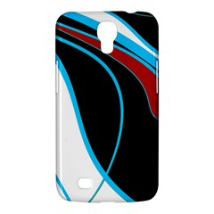 Blue, Red, Black And White Design Samsung Galaxy Mega 6 3  I9200 Hardshell Case by Valentinaart