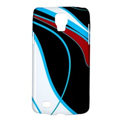 Blue, Red, Black And White Design Galaxy S4 Active by Valentinaart