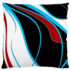 Blue, Red, Black And White Design Standard Flano Cushion Case (two Sides) by Valentinaart
