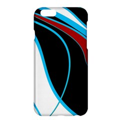 Blue, Red, Black And White Design Apple Iphone 6 Plus/6s Plus Hardshell Case by Valentinaart