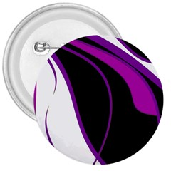 Purple Elegant Lines 3  Buttons by Valentinaart