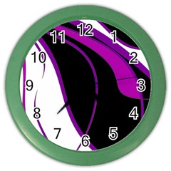 Purple Elegant Lines Color Wall Clocks by Valentinaart