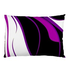 Purple Elegant Lines Pillow Case by Valentinaart