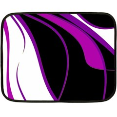 Purple Elegant Lines Fleece Blanket (mini) by Valentinaart
