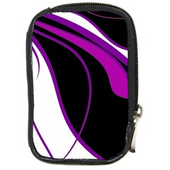 Purple Elegant Lines Compact Camera Cases by Valentinaart