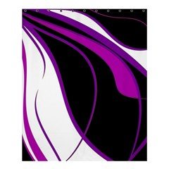 Purple Elegant Lines Shower Curtain 60  X 72  (medium)  by Valentinaart