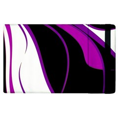 Purple Elegant Lines Apple Ipad 2 Flip Case by Valentinaart