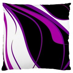 Purple Elegant Lines Large Flano Cushion Case (two Sides) by Valentinaart