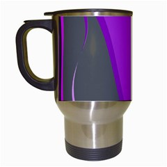 Purple Elegant Lines Travel Mugs (white) by Valentinaart