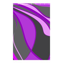 Purple Elegant Lines Shower Curtain 48  X 72  (small)  by Valentinaart