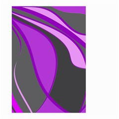 Purple Elegant Lines Small Garden Flag (two Sides) by Valentinaart