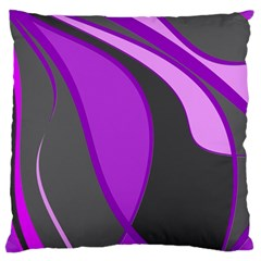 Purple Elegant Lines Large Cushion Case (one Side) by Valentinaart