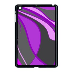 Purple Elegant Lines Apple Ipad Mini Case (black) by Valentinaart