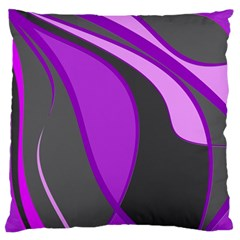 Purple Elegant Lines Large Flano Cushion Case (one Side) by Valentinaart