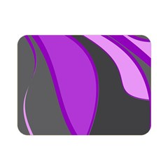 Purple Elegant Lines Double Sided Flano Blanket (mini)  by Valentinaart