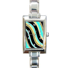 Elegant Lines Rectangle Italian Charm Watch by Valentinaart