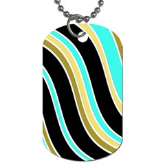 Elegant Lines Dog Tag (two Sides) by Valentinaart